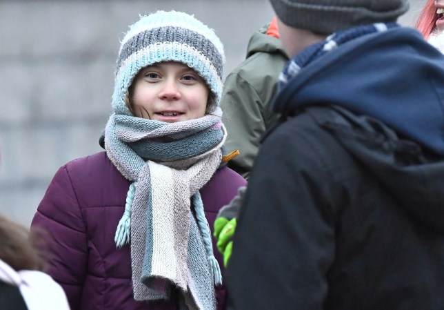 Greta Thunberg celebrates her 17th birthday by attending the weekly 'Fridays For Future' climate school strike outside the Swedish parliament in Stockholm