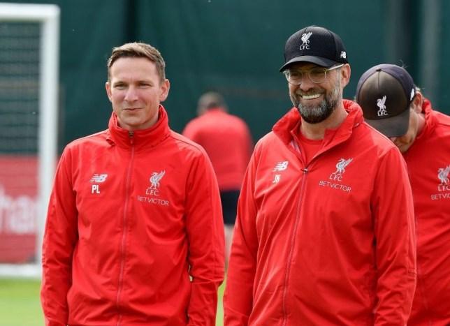 Liverpool assistant Pep Lijnders and Jurgen Klopp