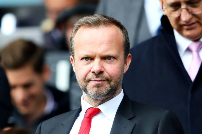 Manchester United executive vice-chairman Ed Woodward watches on from the stands