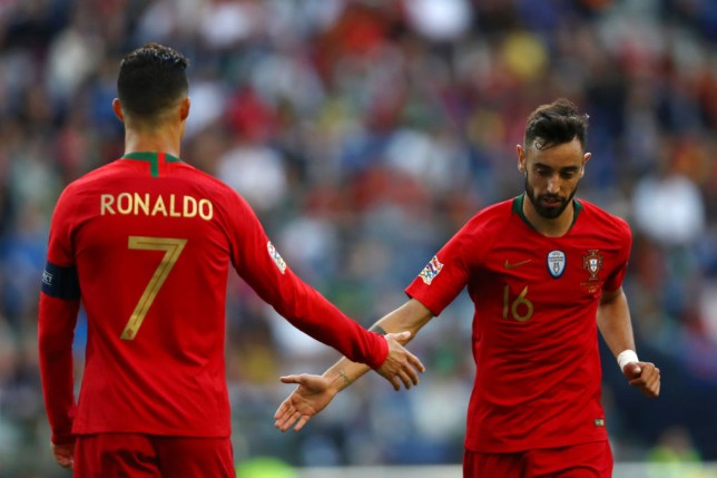 Cristiano Ronaldo and Bruno Fernandes are international teammates for Portugal