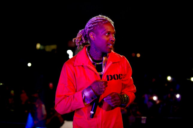 Lil Durk performs on stage