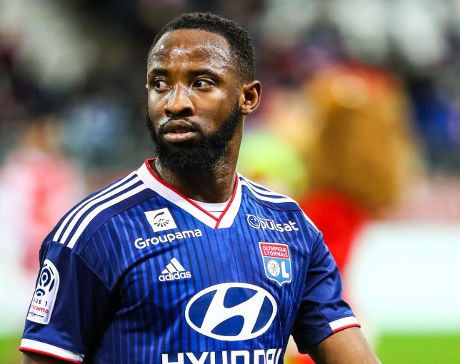 Moussa Dembele is pictured in action for Lyon
