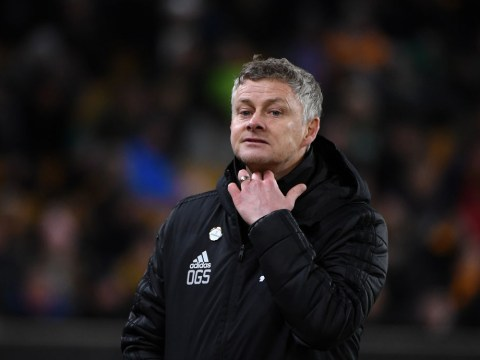 Manchester City fans sing 'Ole Gunnar Solskjaer, we want you to stay' during Old Trafford drubbing