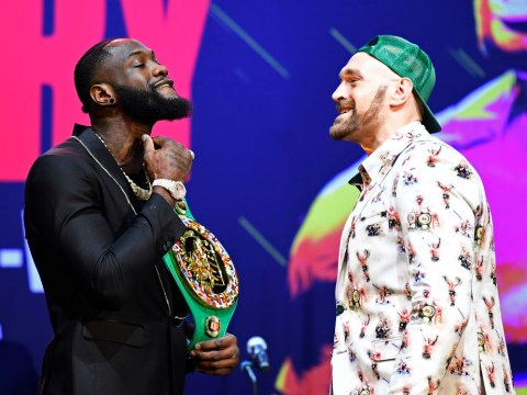 Tyson Fury makes bold prediction during his opening face off with Deontay Wilder