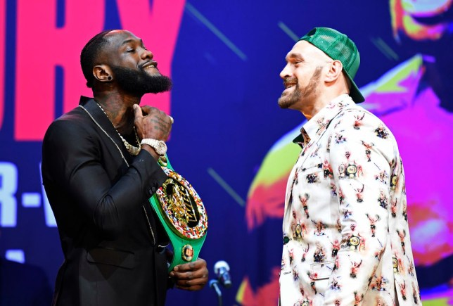 Deontay Wilder and Tyson Fury came face-to-face ahead of their February rematch