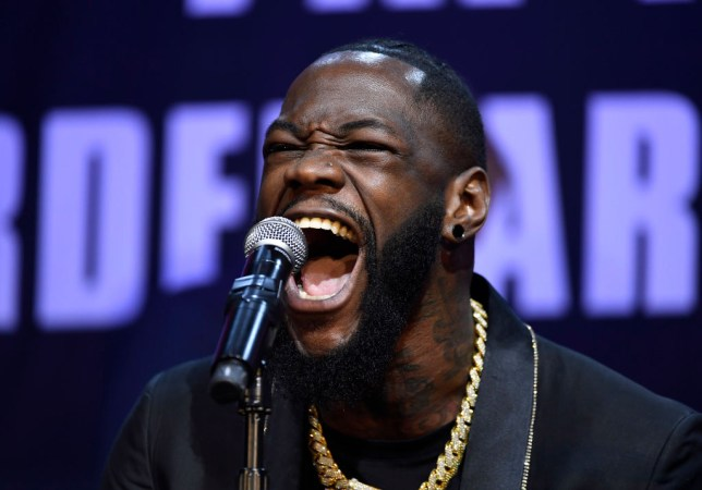 WBC heavyweight champion Deontay Wilder