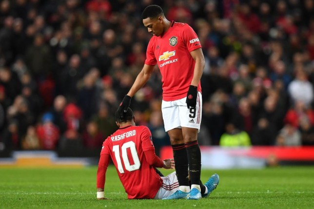 Marcus Rashford is a major doubt for Sunday's clash against Liverpool