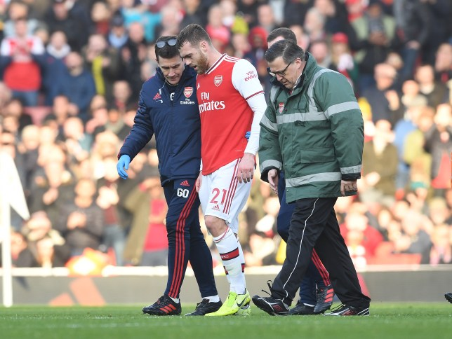 Arsenal will be without Calum Chambers for six to nine months