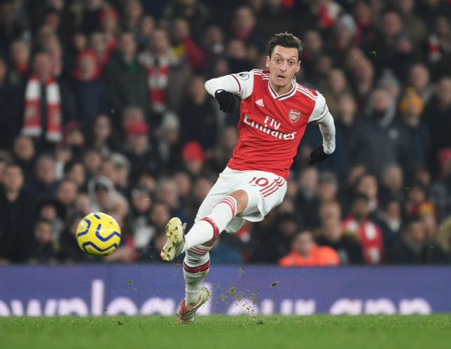 Mesut Ozil produced a vintage performance for Arsenal against Manchester United