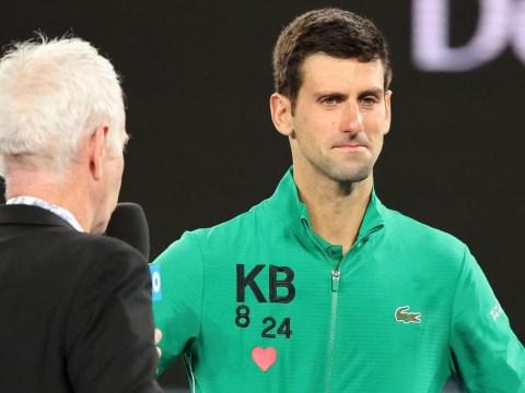 Novak Djokovic fights back tears in Kobe Bryant tribute after setting Roger Federer clash