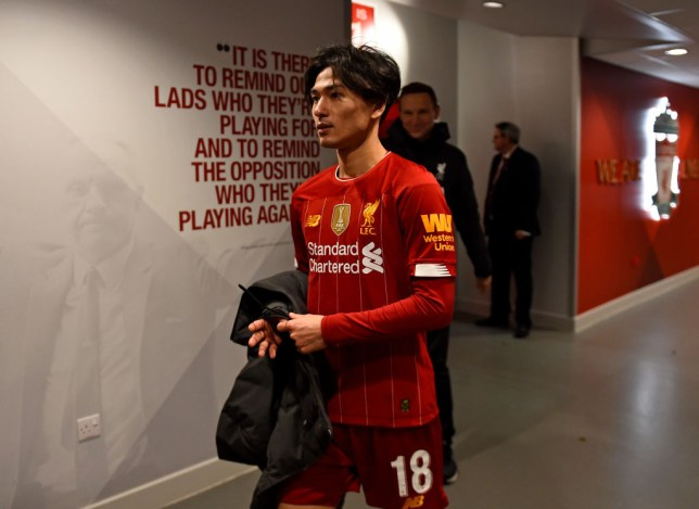 Takumi Minamino made his Liverpool debut in last weekend's FA Cup win over Everton