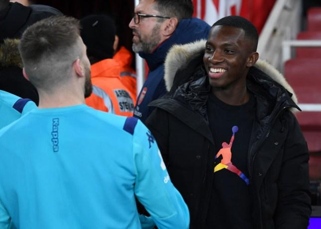 Arsenal forward Eddie Nketiah
