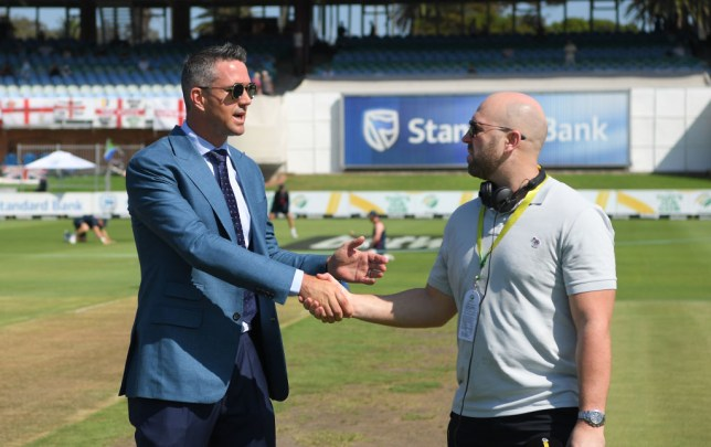 Kevin Pietersen and Matt Prior meet ahead of the third South Africa Test