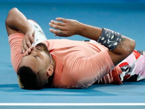 Nick Kyrgrios reacts to stunning Australian Open win over Karen Khachanov