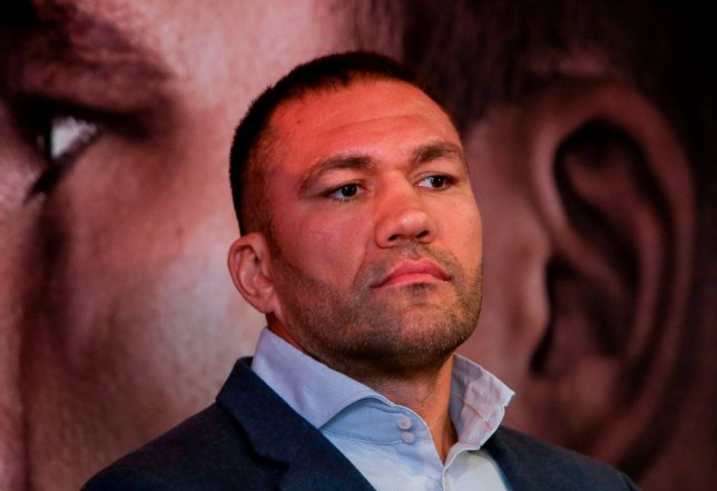 Kubrat Pulev at a boxing press conference