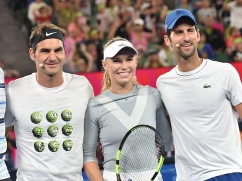 Roger Federer, Rafael Nadal and Novak Djokovic pay tribute to Caroline Wozniacki