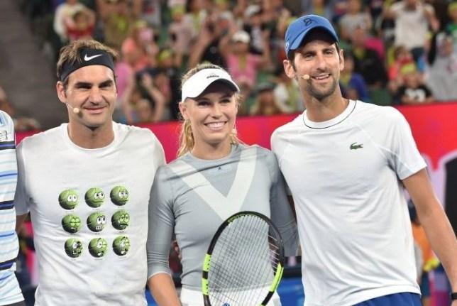 accappatoio Taccuino grazie per laiuto  Roger Federer, Rafael Nadal and Djokovic pay tribute to Caroline Wozniacki  | Metro News