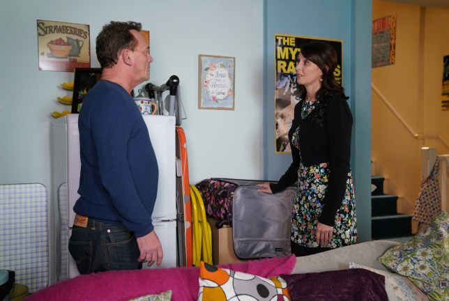 Honey Mitchell and Billy Mitchell in EastEnders