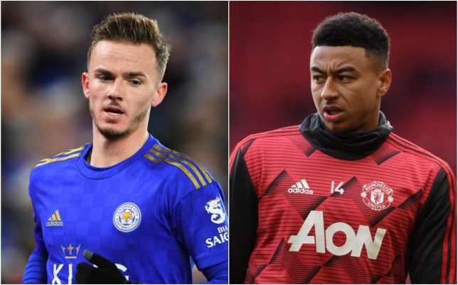 Manchester United are prepared to offer Jesse Lingard in their bid for Leicester City midfielder James Maddison
