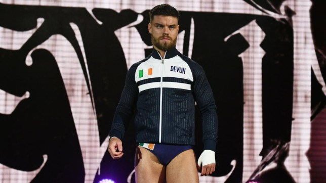 Jordan Devlin makes his NXT UK Takeover entrance