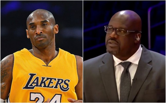 Shaquille O'Neal was in tears when he paid tribute to Kobe Bryant