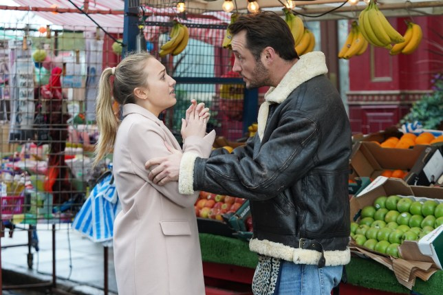 Martin Fowler and Louise Mitchell in EastEnders