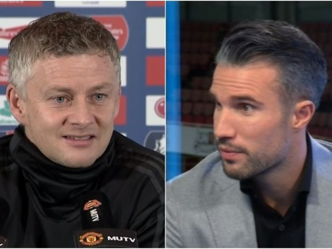 Ole Gunnar Solskjaer hits back at Robin van Persie over criticism after Manchester United's defeat to Arsenal