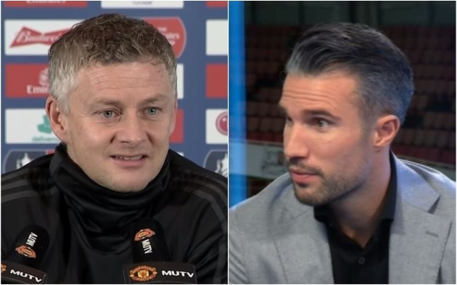 Ole Gunnar Solskjaer has branded Robin van Persie 'medieval' for his comments after Manchester United's defeat to Arsenal