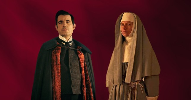 Claes Bang and Dolly Wells in Dracula