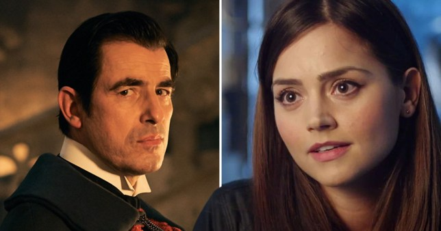 Dracula and Jenna Coleman as Clara Oswald in Doctor Who
