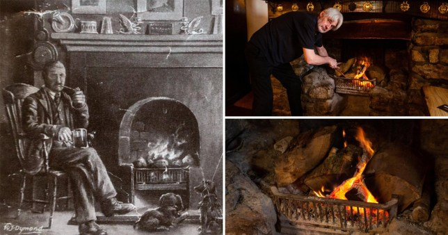 Landlord claims pub fire has been burning constantly for the past 174 years