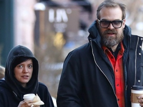 Lily Allen and David Harbour are couple goals as they go shopping during Aspen skiing trip