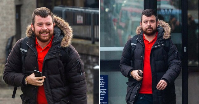 Paul Elcombe is alleged to have thrown the creature at Kyle Towers' head