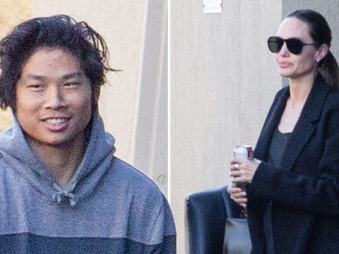 Angelina Jolie hits film studio with son Pax as ex Brad Pitt jokes about his dating life