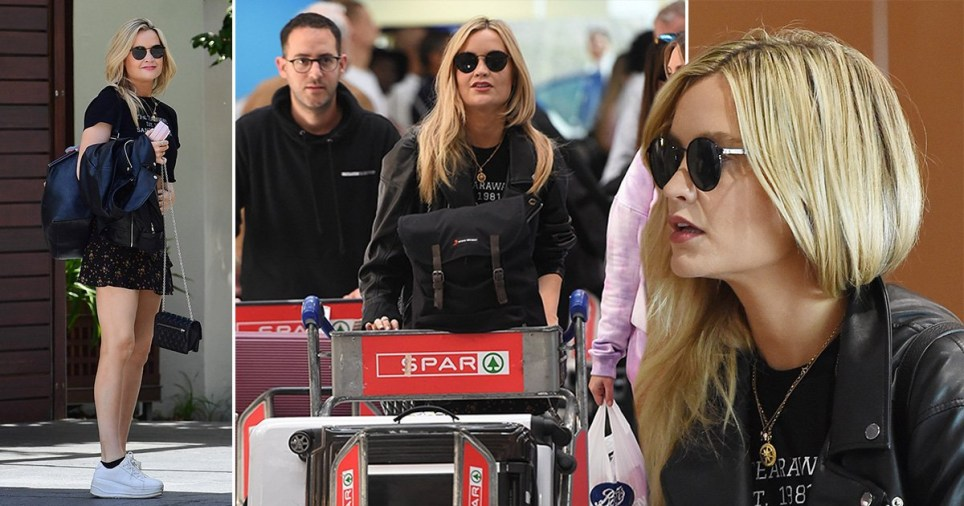 Laura Whitmore in South Africa airport