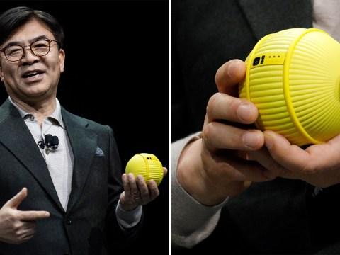 Samsung built a weird robot ball that follows you around the house