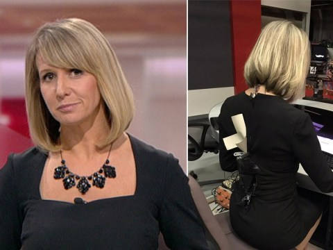 BBC presenter's Zara dress bursts open but she's saved by quick-thinking colleagues