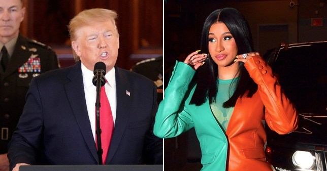 Cardi B brands Donald Trump a 'terrorist' as she supports Iranians after missile attack