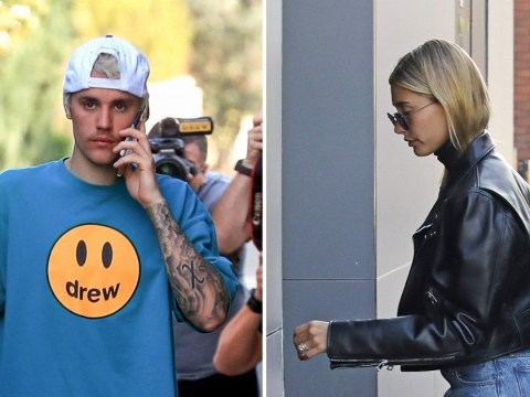 Justin Bieber looks downcast as he's seen for first time with Hailey Baldwin after revealing Lyme disease