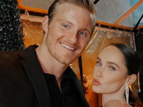 Vikings' Kristy Dawn Dinsmore puckers up to boyfriend Alexander Ludwig after game-changing episode