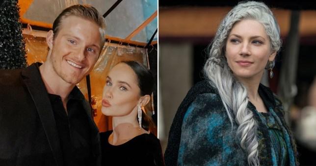 Vikings' Kristy Dawn Dinsmore and boyfriend Alexander Ludwig