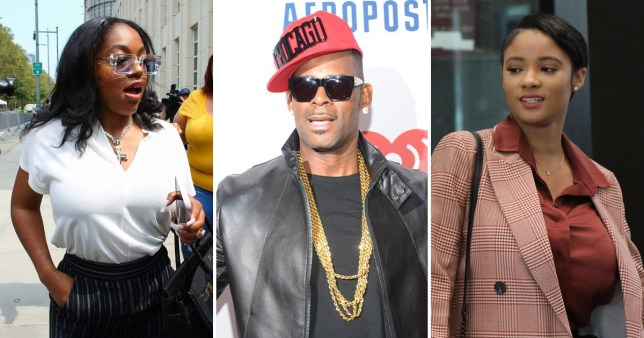 R Kelly and girlfriends Azriel Clary and Joycelyn Savage