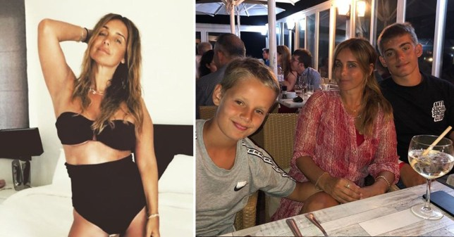 Louise Redknapp with her sons