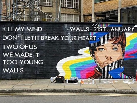 Louis Tomlinson unveils tracklist for debut album Walls with giant mural of his face on, wait for it, a wall