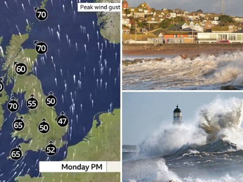 Weather warnings as Storm Brendan sweeps into UK with 80mph winds