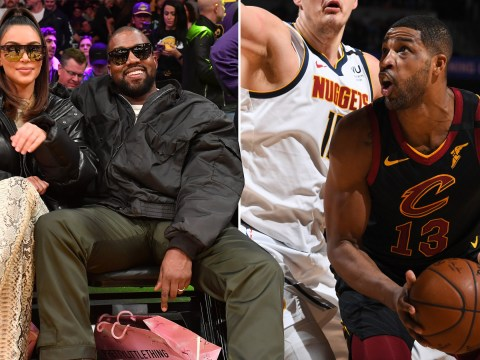 Kim Kardashian watches Khloe's cheating ex Tristan Thompson lose against Lakers from courtside