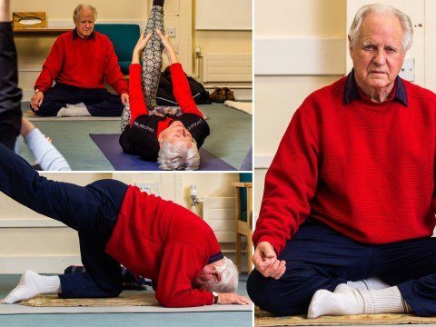 'Britain's oldest yoga teacher' is still leading classes at 90
