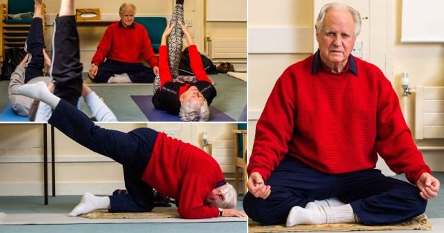 'Britain's oldest yoga teacher' is still leading classes at 90
