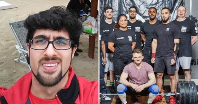 Koroush the Iranian refugee who fled war to come to London pictured with his weightlifting community