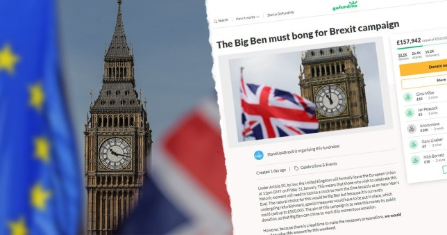 Cash raised for Big Ben Brexit bong can't be spent on ringing bell